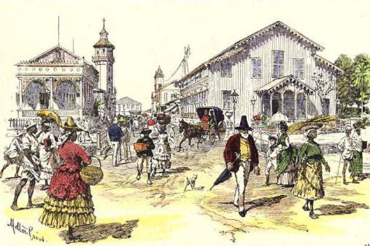 Water Street Engraving - 1888