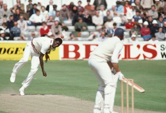 Over and out: demon bowler Joel Garner on the attack in 'Fire in Babylon'