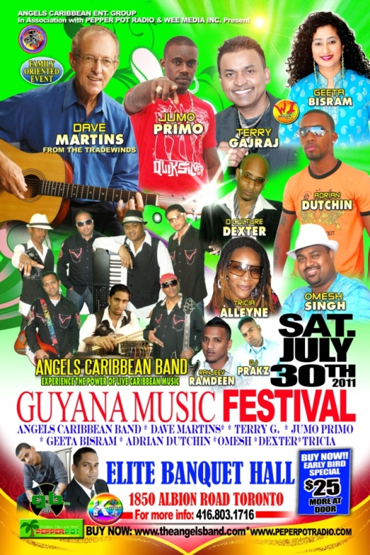 Guyana Music Festival Caribana Saturday 2011