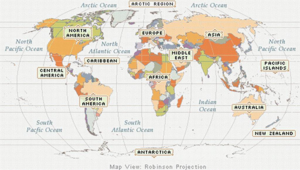 World map regions