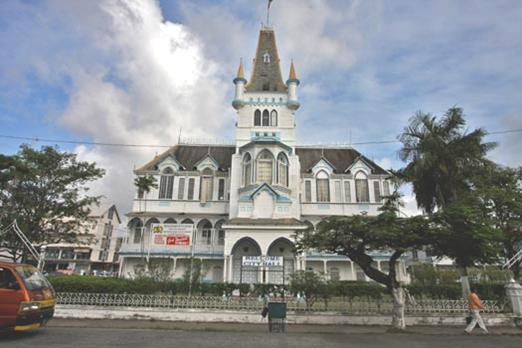 Caribbean News - New York Times Stands By Guyana Story ...  Guyana New Amsterdam City Hall