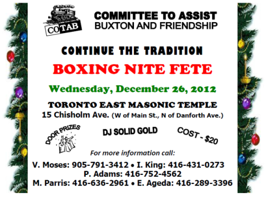 COTAB Boxing Night Party Flyer