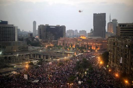 Egypt- Cairo's Tahrir Square on July 3, 2013