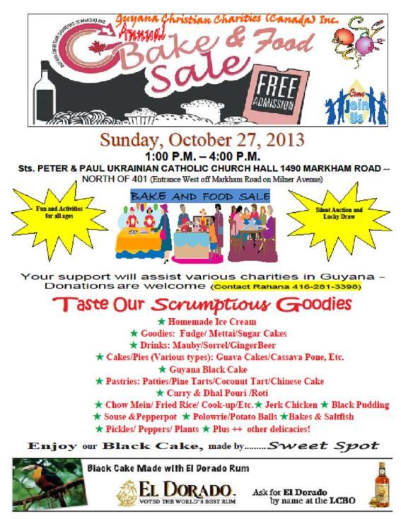 CCC-Bake sale 2013
