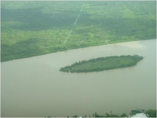 Borsselen Island in the Demerara River