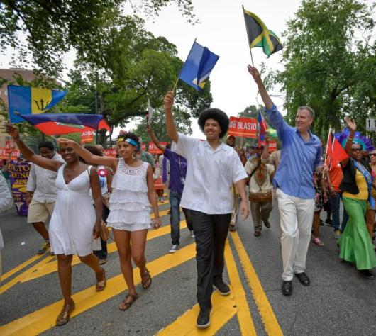 The Caribbean population has become noticeably more prominent with many politicians courting voters including incoming Mayor Bill de Blasio. (File photo)