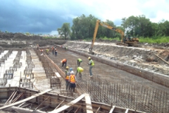 Sluice construction at Hope Canal project