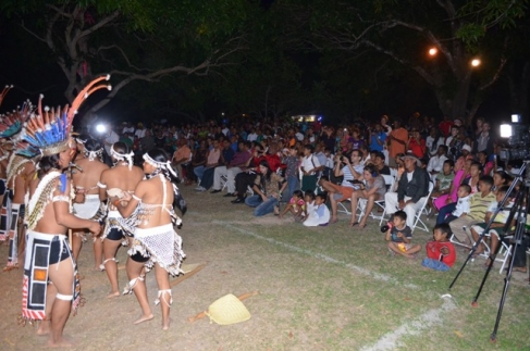 A section of the audience at the Rupununi Music and Arts Festival being entertained