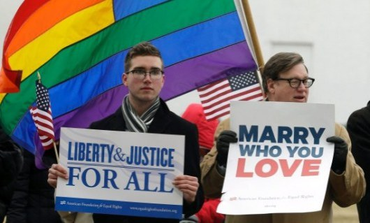 Battle for Same-Sex Marriage in the USA - February 2014