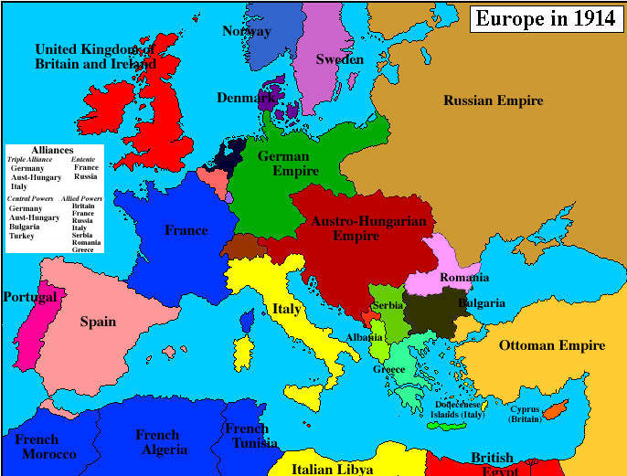 Europe in 1919 map Guyanese Online