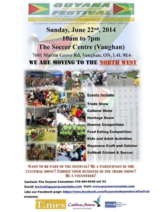 Guyana Independence Festival Flyer