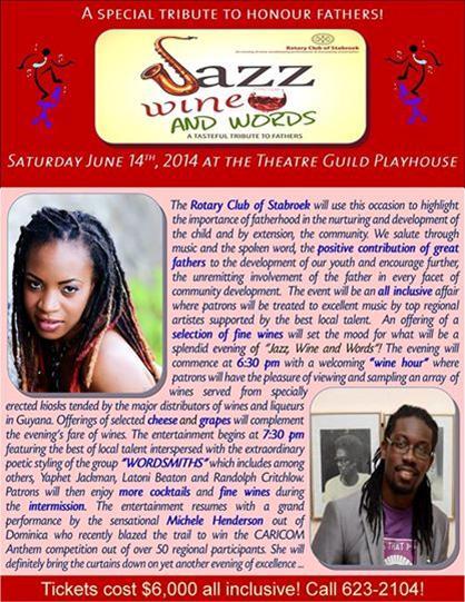 Jazz wine and words