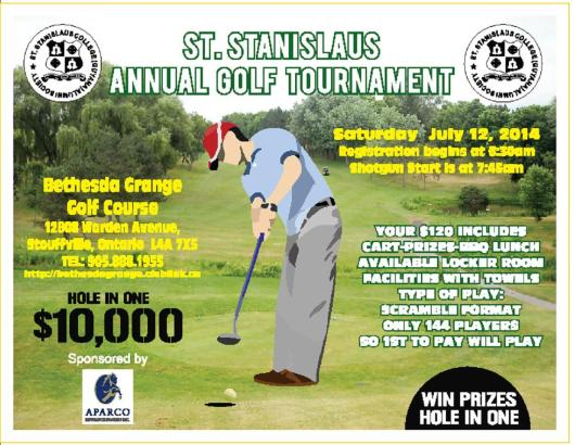 Saints golf 2014