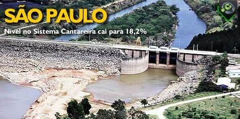 Cantareira Reservoir - Aereal View - Sao Paulo - Brazil - February 2014