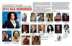 GCA Honorees - 2014