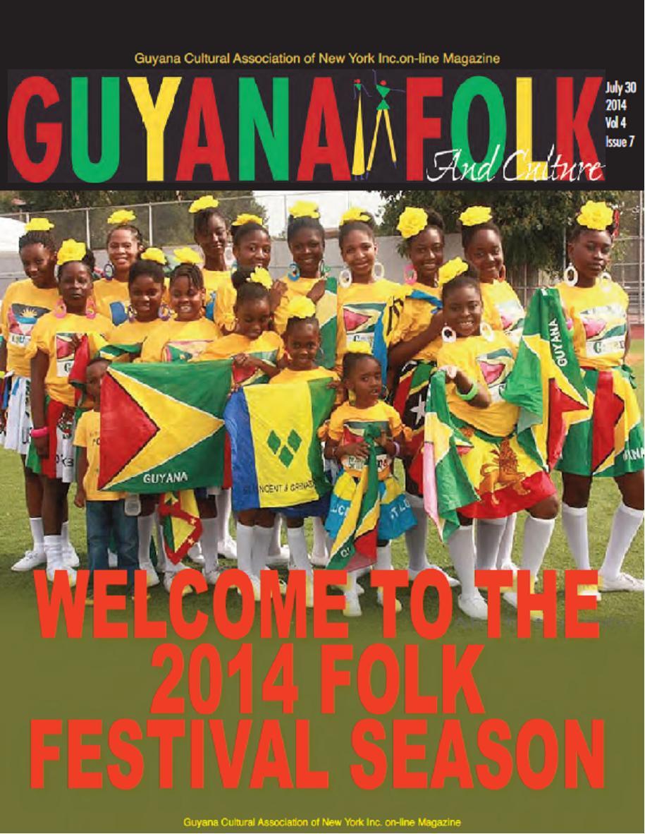 Calendar Guyana : Guyana cultural asso of ny july magazine