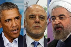 U.S. President Barack Obama (L), newly elected Iraqi prime minister-designate Haider al-Abadi (C) and Iranian President Hassan Rouhani. (WIN MCNAMEE/Getty Images, STR/AFP/Getty Images, ATTA KENARE/AFP/Getty Images)