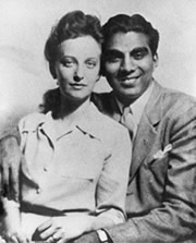 Cheddi and Janet Jagan - Wedding Photo - Chicago USA 1943