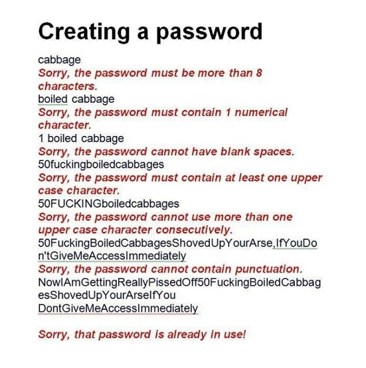 creating a password