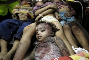 Dead Palestinian Children - Gaza - July 2014