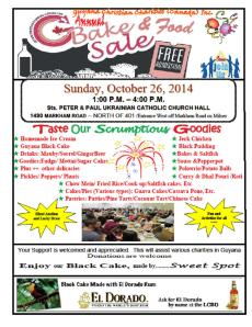GCC Bake Sale 2014
