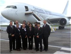 Dynamic Airways 767-200 and crew