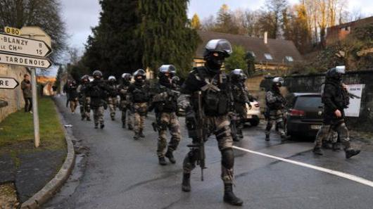 Police Special Force - Manhunt for Charlie Hebdo assailants - France - January 2015