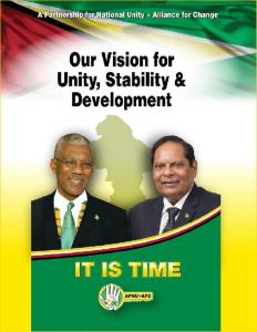 APNU+AFC Manifesto published