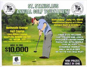 Saints Golf Tournament