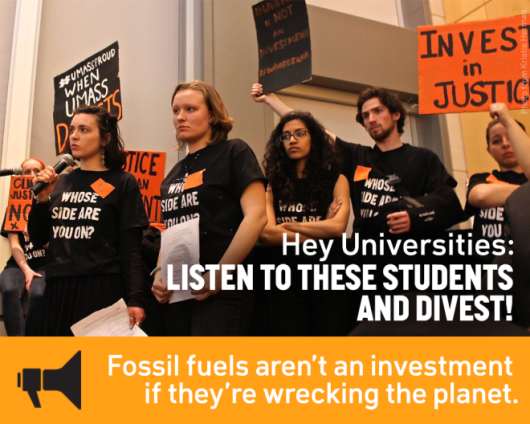 University students demand fossil free investments