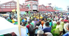 Crowd at Stabroek Square at APNU+AFC Manifesto Unveiling