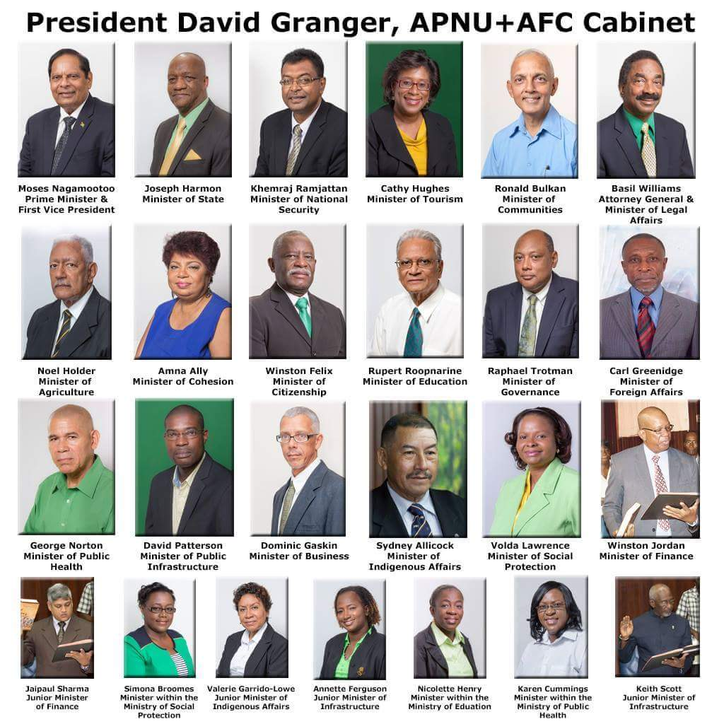 GUYANA'S COALITION GOVERNMENT – MINISTERS and MINISTRIES ...