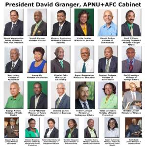 Guyana's New Cabinet - click to enlarge