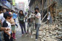 Nepal earthquake destruction