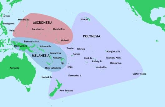 Map of Western Pacific Ocean