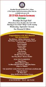 GCA AWARDS INVITATION