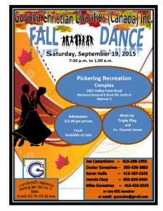 GCC Fall Dance- Sept 19
