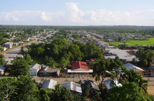 Panoramic View of Tarauaca - State of Acre - Brazil
