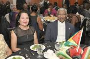 President David Granger and his wife Sandra Granger