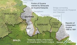 Suriname borders