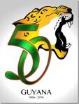 Guyana 50th Anniversary Logo