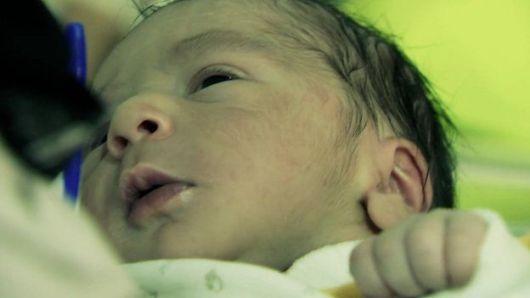 Baby Born in Syrian Refugee Camp in Jordan