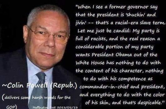 Comment by Colin Powell - Republican