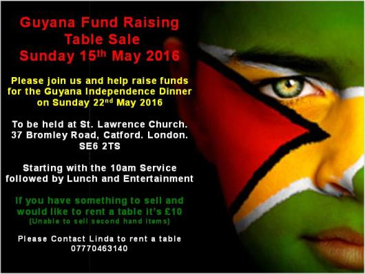 Guyana Fund Raising Table Sale