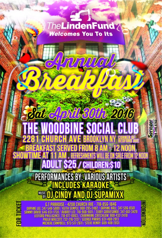 The Linden Fund - Annual Breakfast - Brooklyn NY - April 30, 2016
