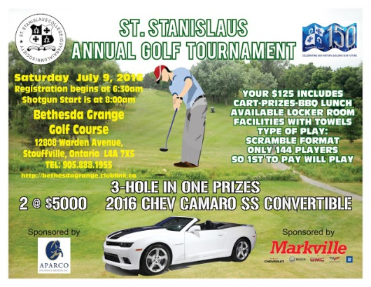 St Stanislaus Alumni Toronto Golf Tournament