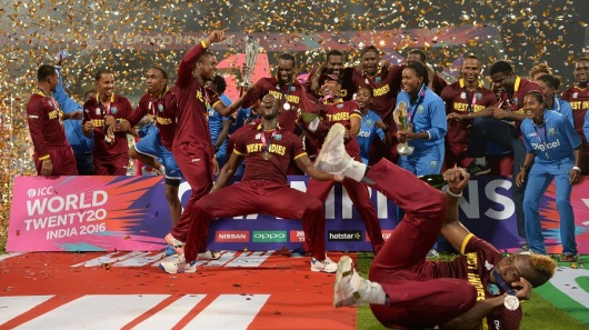 during the ICC World Twenty20 India 2016 Final between England and the West Indies at Eden Gardens on April 3, 2016 in Kolkata, India.