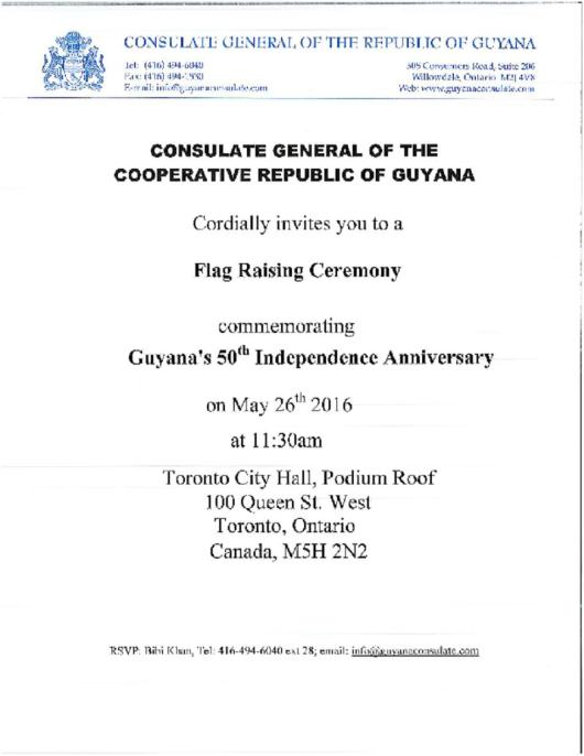Flag Raising Ceremony -Toronto