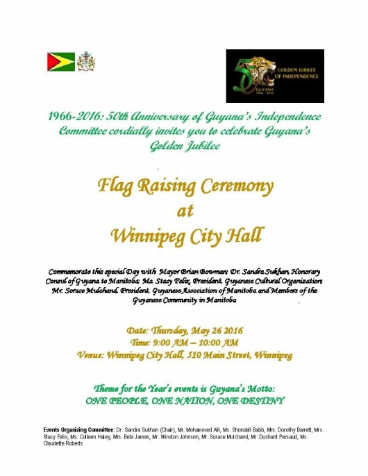 Winnipeg -Flag Raising Ceremony