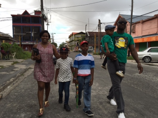 11.A Responsible Man; with wife and Children in Georgetown, June 2016 .